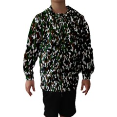 Camouflaged Seamless Pattern Abstract Hooded Wind Breaker (Kids) by Nexatart