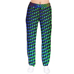 Digitally Created Halftone Dots Abstract Background Design Drawstring Pants by Nexatart