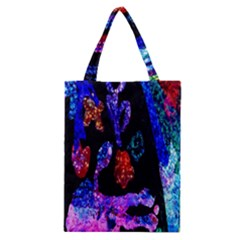 Grunge Abstract In Black Grunge Effect Layered Images Of Texture And Pattern In Pink Black Blue Red Classic Tote Bag by Nexatart