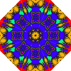 Digital Kaleidoscope Hook Handle Umbrellas (large) by Nexatart