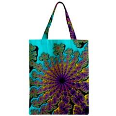Beautiful Mandala Created With Fractal Forge Zipper Classic Tote Bag by Nexatart
