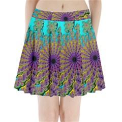 Beautiful Mandala Created With Fractal Forge Pleated Mini Skirt by Nexatart