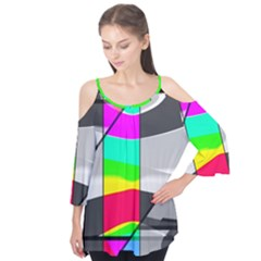 Colors Fadeout Paintwork Abstract Flutter Tees by Nexatart