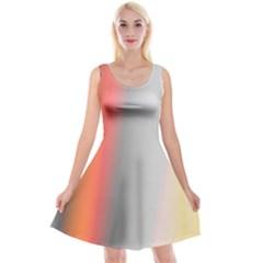 Digitally Created Abstract Colour Blur Background Reversible Velvet Sleeveless Dress by Nexatart