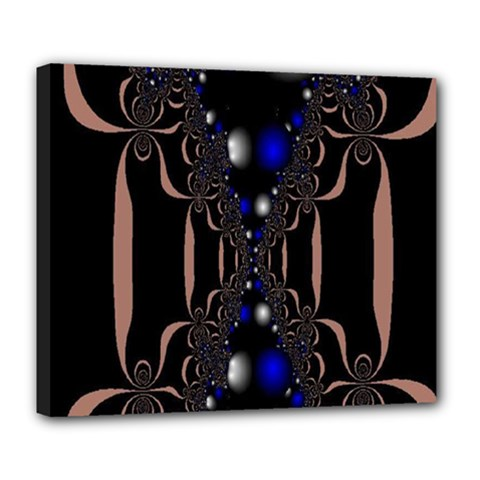 An Interesting Mix Of Blue And Other Colours Balls Deluxe Canvas 24  X 20   by Nexatart