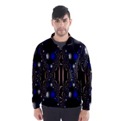 An Interesting Mix Of Blue And Other Colours Balls Wind Breaker (men) by Nexatart