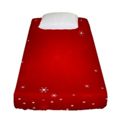 Red Holiday Background Red Abstract With Star Fitted Sheet (single Size) by Nexatart