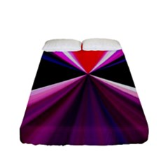Red And Purple Triangles Abstract Pattern Background Fitted Sheet (full/ Double Size) by Nexatart