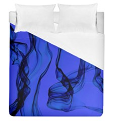 Blue Velvet Ribbon Background Duvet Cover (queen Size) by Nexatart