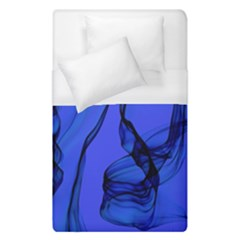 Blue Velvet Ribbon Background Duvet Cover (single Size) by Nexatart