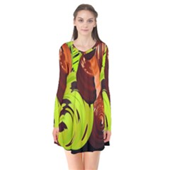 Neutral Abstract Picture Sweet Shit Confectioner Flare Dress