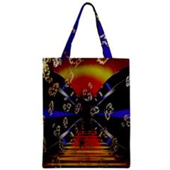 Diamond Manufacture Zipper Classic Tote Bag by Nexatart