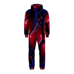 Color Fractal Pattern Hooded Jumpsuit (kids) by Nexatart