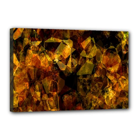 Autumn Colors In An Abstract Seamless Background Canvas 18  X 12  by Nexatart
