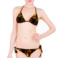 Autumn Colors In An Abstract Seamless Background Bikini Set