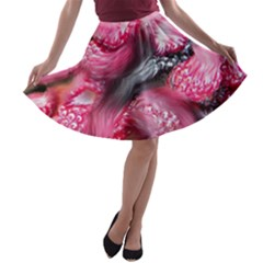 Raspberry Delight A Line Skater Skirt by Nexatart
