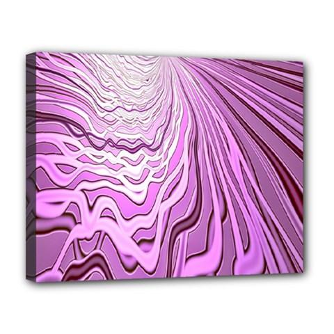 Light Pattern Abstract Background Wallpaper Canvas 14  X 11  by Nexatart