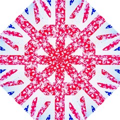 British Flag Abstract British Union Jack Flag In Abstract Design With Flowers Hook Handle Umbrellas (large) by Nexatart