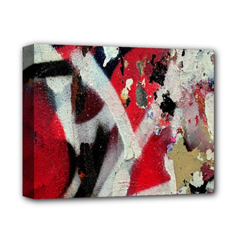 Abstract Graffiti Background Wallpaper Of Close Up Of Peeling Deluxe Canvas 14  X 11  by Nexatart
