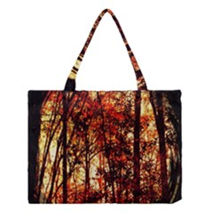 Forest Trees Abstract Medium Tote Bag by Nexatart