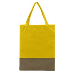 Trolley Yellow Brown Tropical Classic Tote Bag by Jojostore