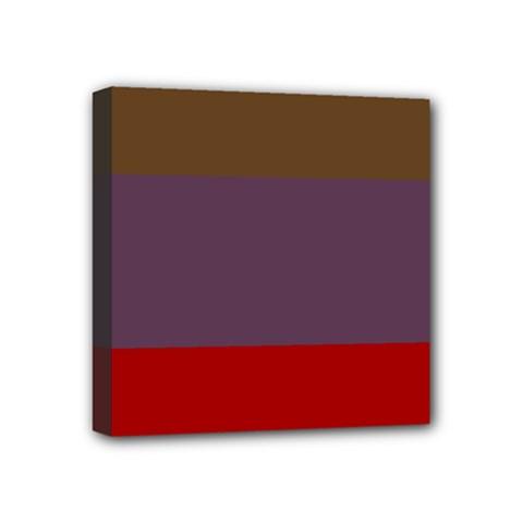 Brown Purple Red Mini Canvas 4  X 4  by Jojostore