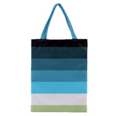Line Color Black Green Blue White Classic Tote Bag by Jojostore