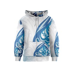Delicate Tree Leaf Kids  Zipper Hoodie by Jojostore