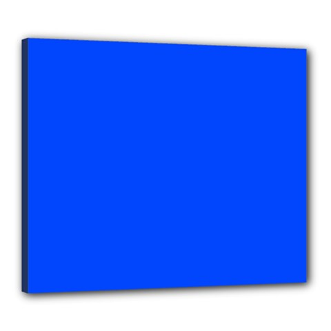 Plain Blue Canvas 24  X 20  by Jojostore