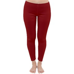Plain Blue Red Classic Winter Leggings by Jojostore