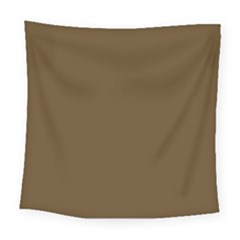 Plain Brown Square Tapestry (large) by Jojostore