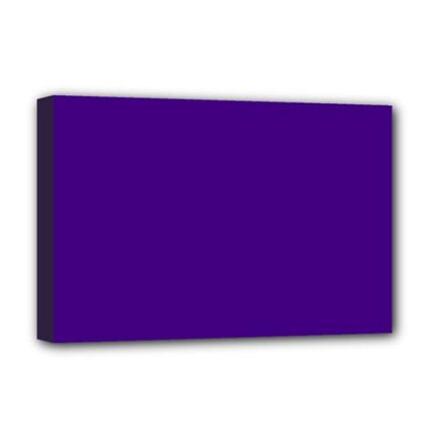 Plain Violet Purple Deluxe Canvas 18  X 12   by Jojostore