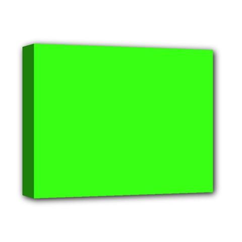 Plain Green Deluxe Canvas 14  X 11  by Jojostore