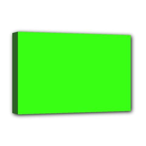 Plain Green Deluxe Canvas 18  X 12   by Jojostore
