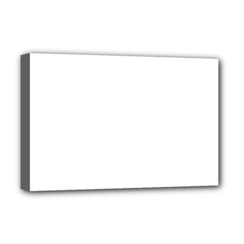 Plain White Deluxe Canvas 18  X 12   by Jojostore