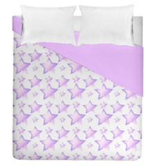 Pink And Lilac Stars Double Sided Duvet Cover (queen Size) by cheekywitch