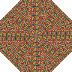 Typographic Graffiti Pattern Folding Umbrellas by dflcprints