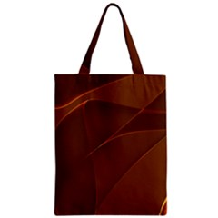 Brown Background Waves Abstract Brown Ribbon Swirling Shapes Zipper Classic Tote Bag by Nexatart