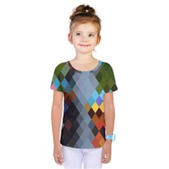 Diamond Abstract Background Background Of Diamonds In Colors Of Orange Yellow Green Blue And More Kids  One Piece Tee by Nexatart