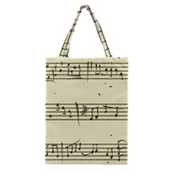 Music Notes On A Color Background Classic Tote Bag by Nexatart