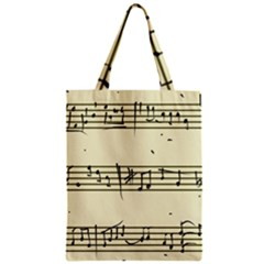 Music Notes On A Color Background Zipper Classic Tote Bag by Nexatart