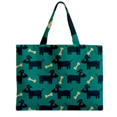 Happy Dogs Animals Pattern Medium Tote Bag by Nexatart