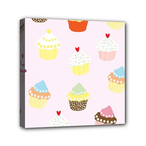Seamless Cupcakes Wallpaper Pattern Background Mini Canvas 6  X 6