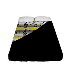 Note Abstract Paintwork Fitted Sheet (full/ Double Size) by Nexatart