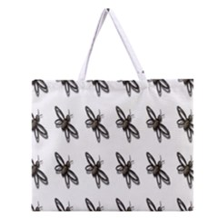 Insect Animals Pattern Zipper Large Tote Bag by Nexatart