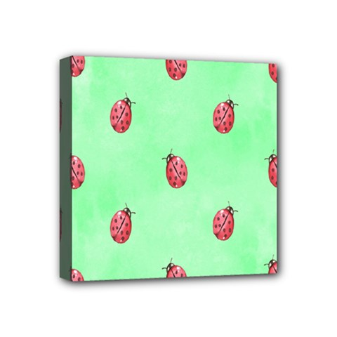 Pretty Background With A Ladybird Image Mini Canvas 4  X 4  by Nexatart