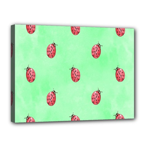Pretty Background With A Ladybird Image Canvas 16  X 12  by Nexatart
