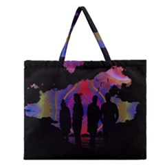 Abstract Surreal Sunset Zipper Large Tote Bag by Nexatart