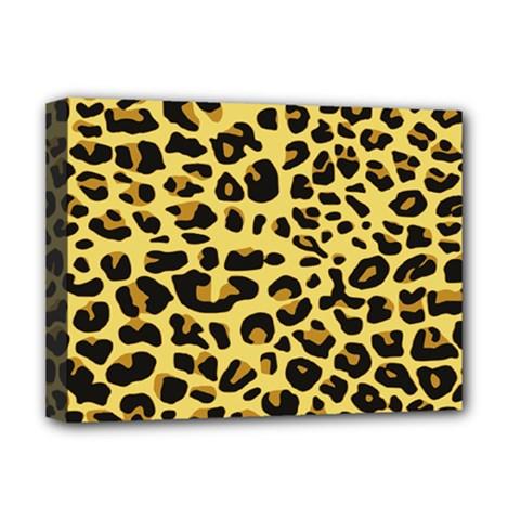 A Jaguar Fur Pattern Deluxe Canvas 16  X 12   by Nexatart