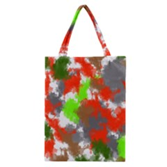 Abstract Watercolor Background Wallpaper Of Splashes  Red Hues Classic Tote Bag by Nexatart